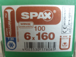 SPAX HI.FORCE 6x160 (100 Stk)